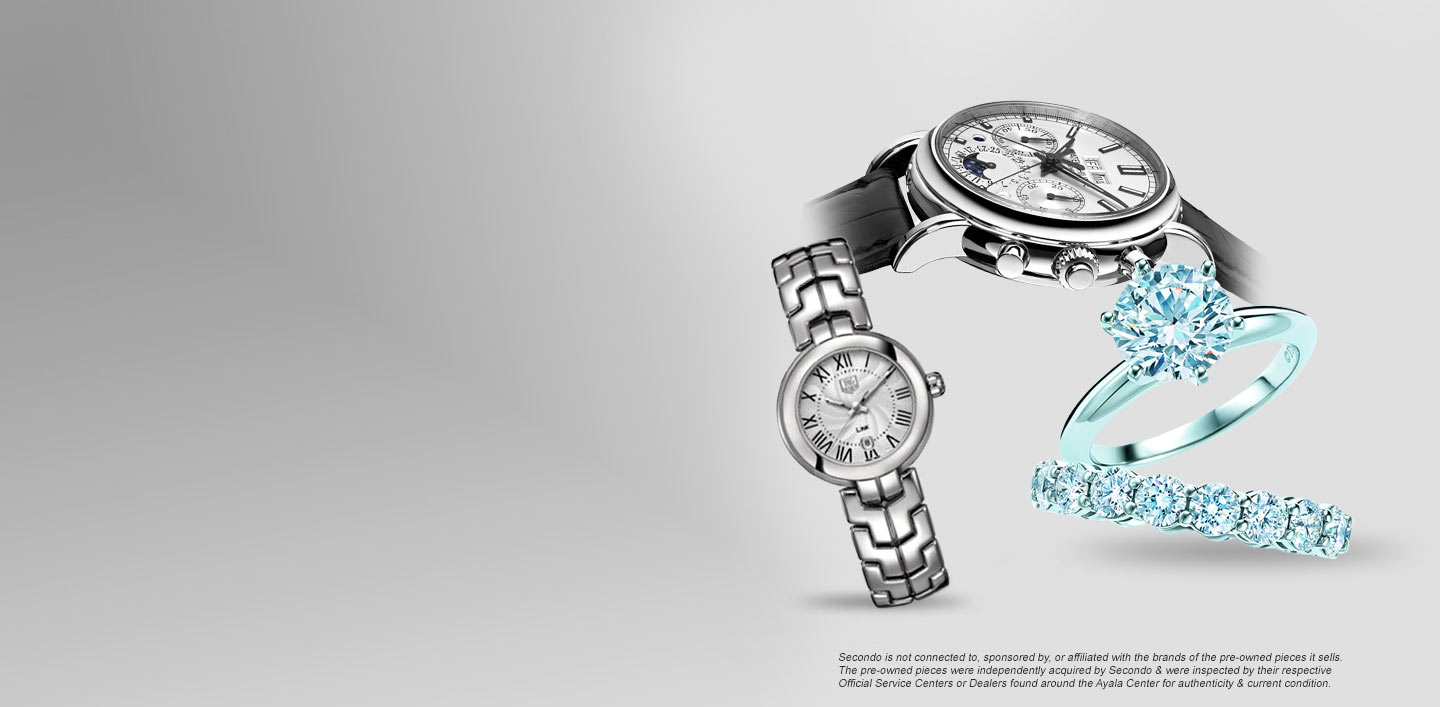 You can sell us your watches, jewellery and diamonds.